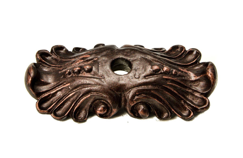 Carpe Diem Hardware Carpe Diem 1040-22 Acanthus Oil Rub Bronze Medium escutcheon romanesque style Oil Rub Bronze