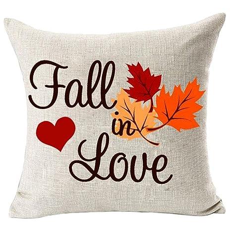 Fossrn Fall in Love Fundas de Cojines 45x45 de Patrón Hoja ...