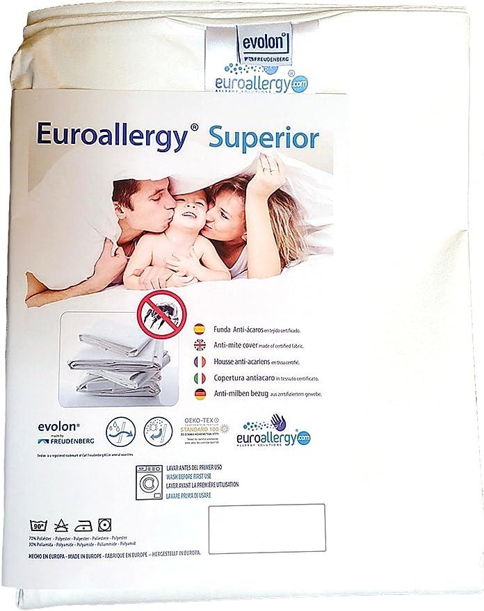 Funda AntiAcaros para Edredon Nordico 140 x 217 cm. Euroallergy/® Superior Varias medidas disponibles Tejido certificado