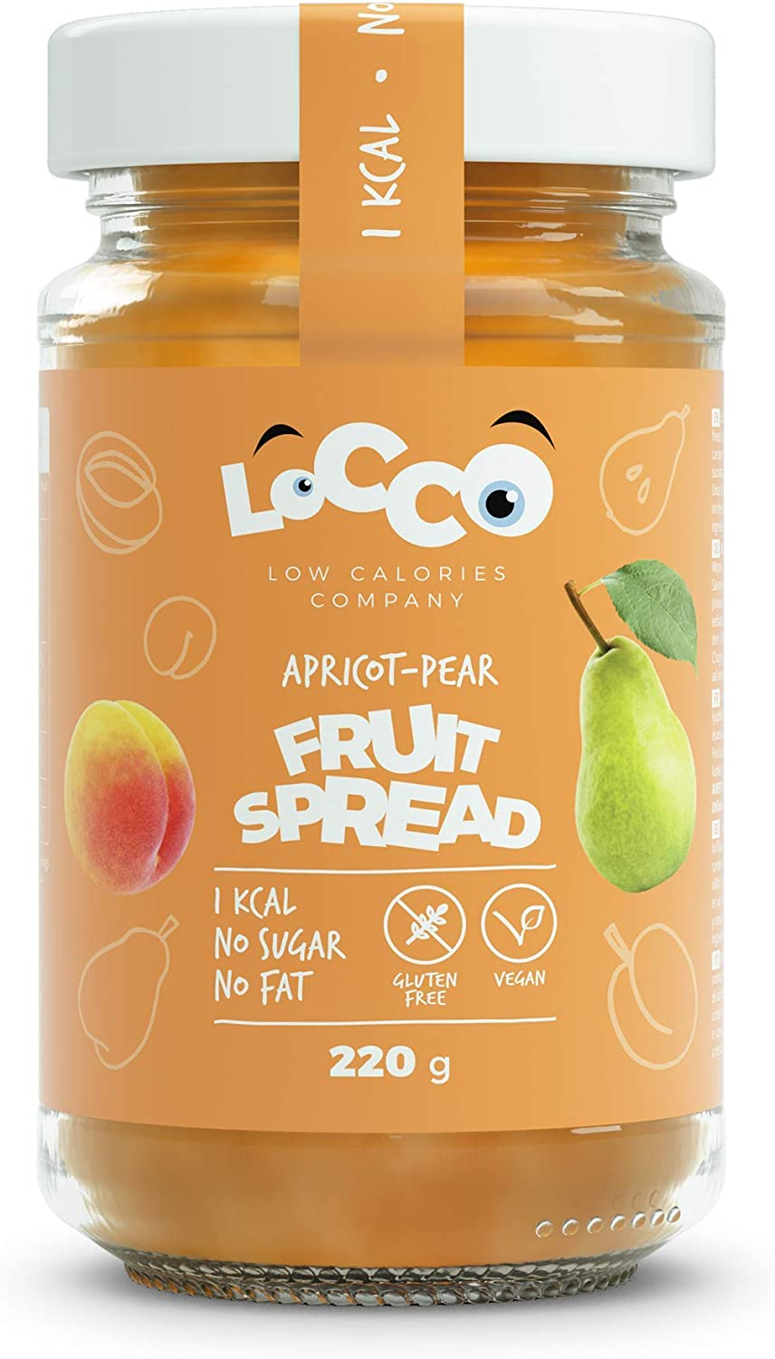 Locco Low Calorie Apricot Pear Spread 220g Slimming Food For Diabetics On Keto Paleo Dukan Diet Amazon Co Uk Health Personal Care
