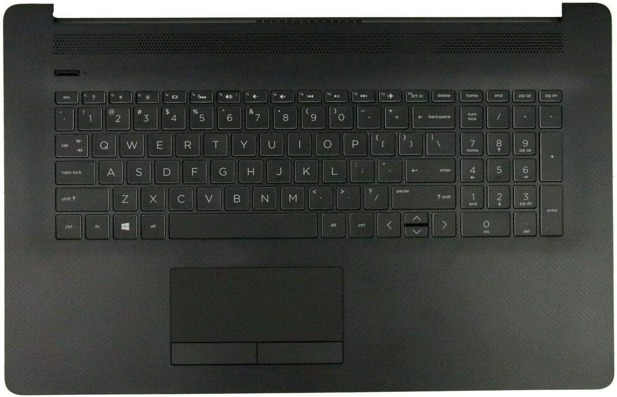 Replacement for HP Pavilion17BY 17-by 17CA 17-CA Laptop Upper Case Palmrest Non-Backlit Keyboard Touchpad Assembly Part L22751-001 6070B1308101