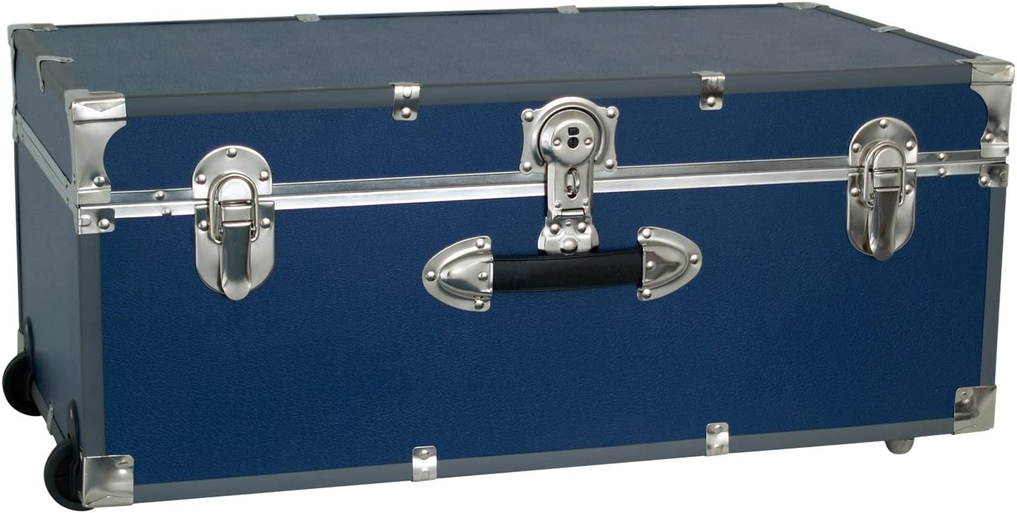 Seward Trunk Wheeled Footlocker, Blue