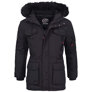 Geographical Norway Herren Winter Jacke Winterjacke Parka Mantel warm gefüttert Outdoor Wintermantel Alos Gr. S XXXL
