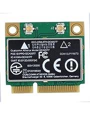 ASHATA Carte réseau PCI-E, Carte Réseau Wi-FI Mini PCI-Express 433Mbps Dual Band 2.4G/5Ghz Soutien Bluetooth 4.2 pour Windows 7/10