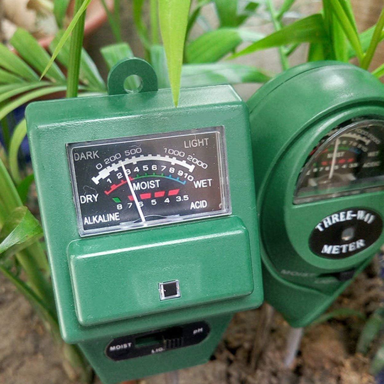 Tree-de-Life 3 in-Boden-Wasser Moisture 1 PH Tester Soil Detector Wasser-Feuchtigkeits-Licht-Test-Meter-Sensor f/ür Garten-Pflanzen-Blume