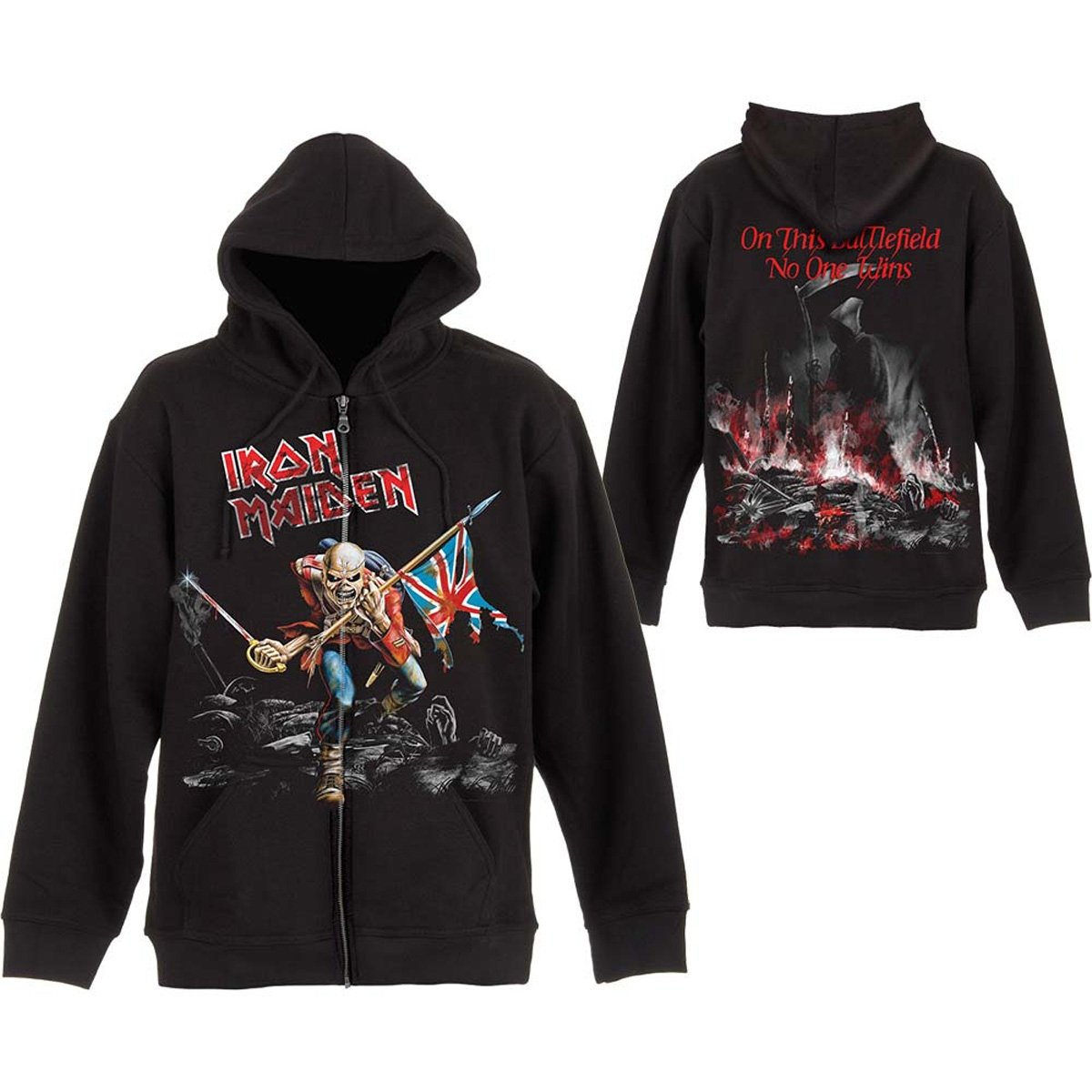 Rock Off Iron Maiden 'Scuffed Trooper' Zip up Hoodie
