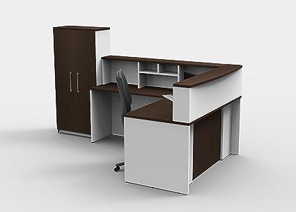 Amazon Com Office Reception Desk Reception Corner Collaboration