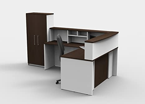 Brilliant Amazon Com Office Reception Desk Reception Corner Home Interior And Landscaping Elinuenasavecom