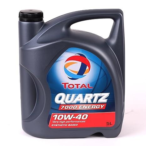 Total Quartz 7000 10W40 5 litros. Lubricante sintético desarrollado para todo tipo de