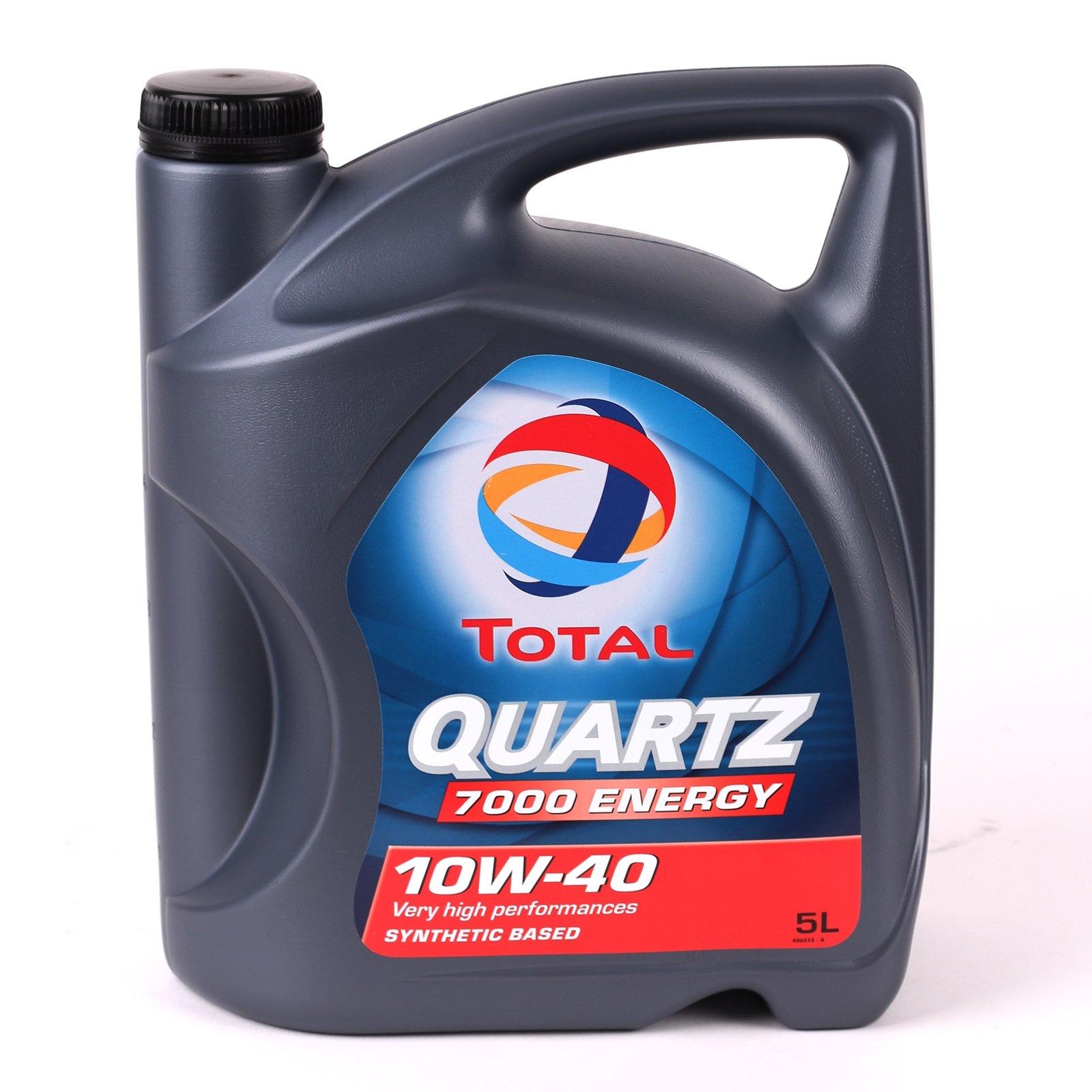Total Quartz 7000 10W-40 Motor Oil - 5L Bottle