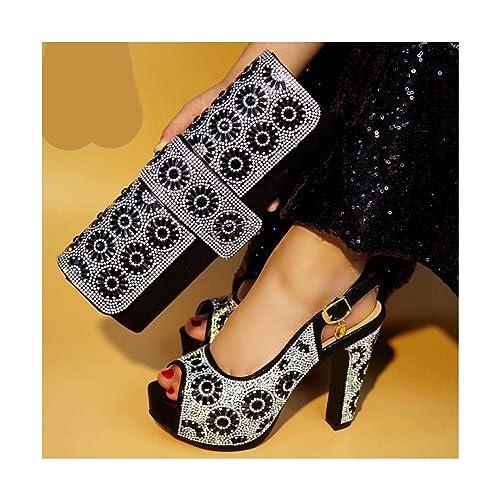 Amazon.com: Juego de zapatos y bolsa italianos para mujer ...