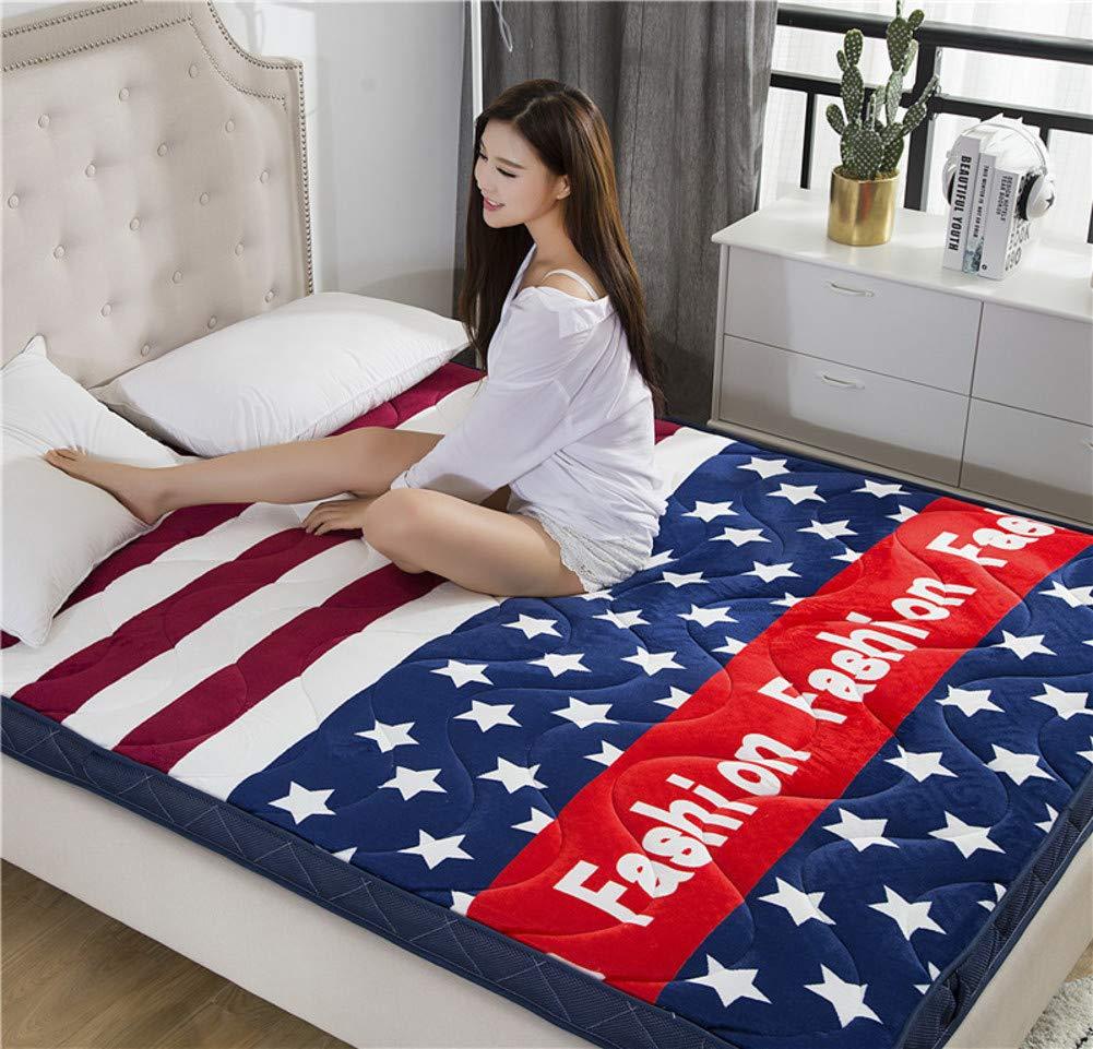 A 180x200cm(71x79inch) Sleeping Tatami mat Futon Mattress,Fluffy Non-Toxic Floor Seating Ventilated Extra-Cushy Living Room Bedroom mat Area Rug-L 120x200cm(47x79inch)