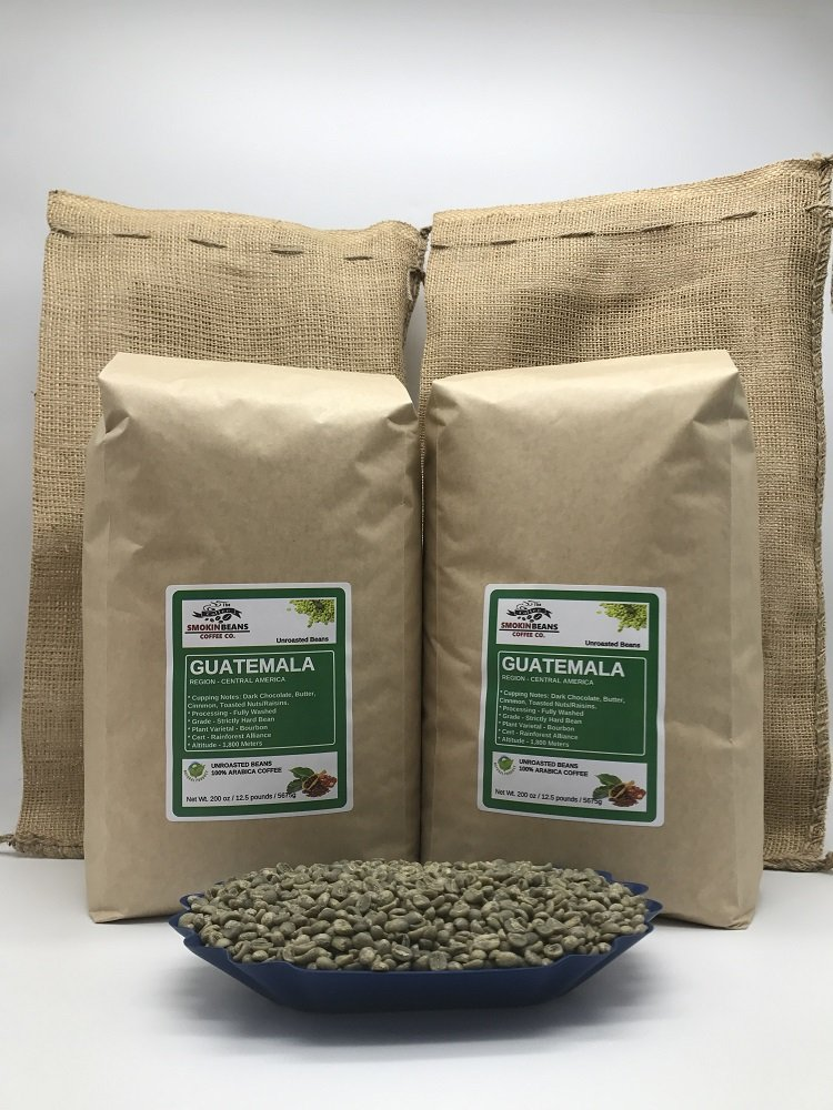 25 LBS – GUATEMALA (includes 2 FREE BURLAP BAGS) Specialty-Grade, CURRENT-CROP Green Unroasted Coffee Beans – Finca Nueva Granada – This Farm Implements Impressive Sustainable Farming Practices