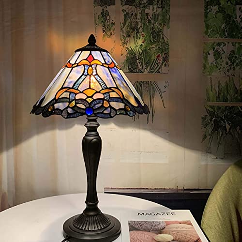 Bieye L10683 Baroque Tiffany Style Stained Glass Table Lamp Night Light