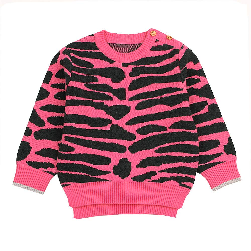 Clode for 0-3 Years Old Cute Toddler Infant Baby Girls Boy Leopard Print Knitted Sweater Pullover Tops Warm Winter Clothes Clode-TS-00387