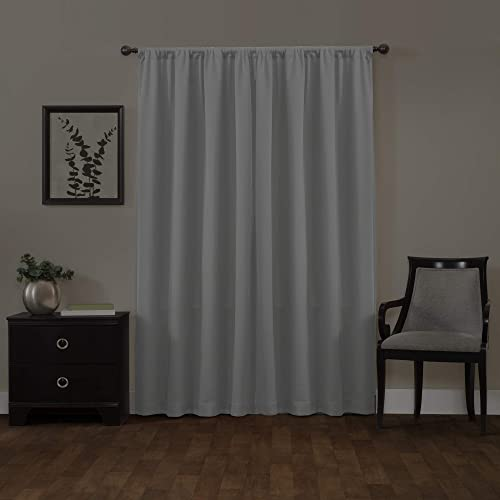 MAYTEX Jamie Blackout Window Curtain, 50 inches x 84 inches, Light Grey