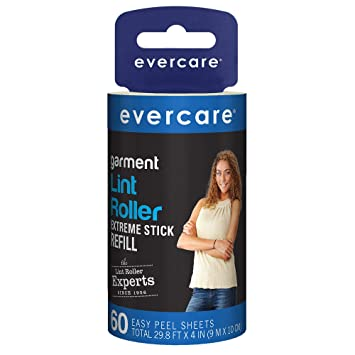 EVERCARE LINT ROLLER EXTREME STICK REFILL 60 SHEETS