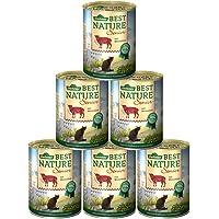 Dehner Best Nature Katzenfutter Senior, Lamm und Weizenkleie, 6 x 400 g (2.4 kg)
