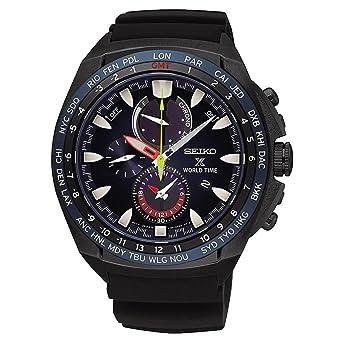 b050fe83031712 Seiko Homme Chronographe Energie Solaire Montre avec Bracelet en Silicone  SSC551P1