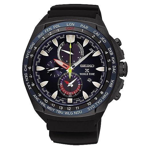 Seiko Reloj Cronógrafo para Hombre de Energía Solar con Correa en Silicona SSC551P1: Amazon.es: Relojes