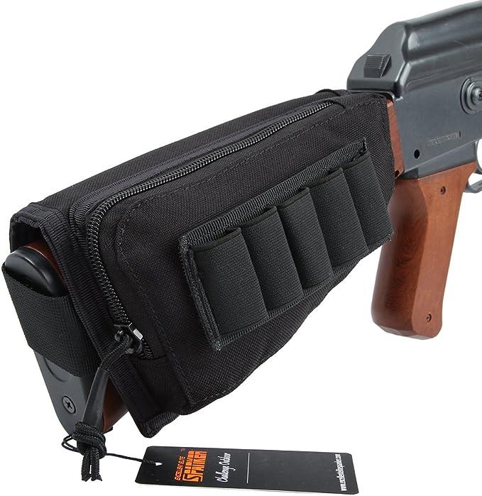 Pro Tactical Hunting Shotgun Rifle Shell Butt Stock Ammo Holder Pouch Cheek Pad