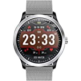 SODIAL N58 ECG PPG Smart Watch Holter ECG Heart Rate Monitor Blood Pressure Smartwatch Silver