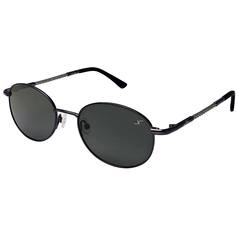 Xezo alambre de titanio y cable de acero polarizadas UV 400 gafas de sol, Oscuro gun-meatl, 23 g/0,8 oz: Amazon.es: Deportes y aire libre