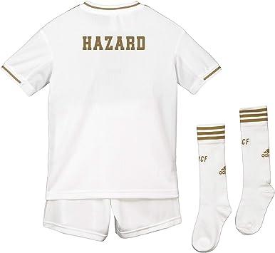 Conjunto Infantil - Dorsal Hazard - 7-14 años Primera equipación Adidas Real Madrid 2019 2020: Amazon.es: Deportes y aire libre