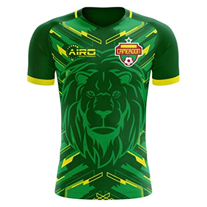 9c5609756 Image Unavailable. Image not available for. Color  Airo Sportswear 2018-2019  Cameroon Home Concept Football Soccer T-Shirt Jersey