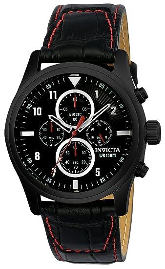 Invicta 22978 Aviator Reloj para Hombre acero inoxidable Cuarzo Esfera negro: Amazon.es: Relojes