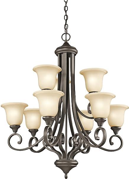 Amazon.com: Kichler 43159 Monroe – Lámpara de techo con 9 ...