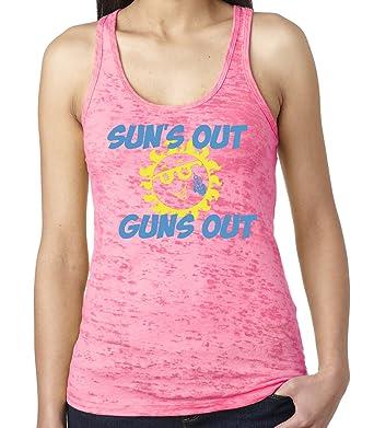 fbcdcae4119 Amazon.com  SoRock Women s Sun s Out Guns Out Burnout Tank Top  Clothing