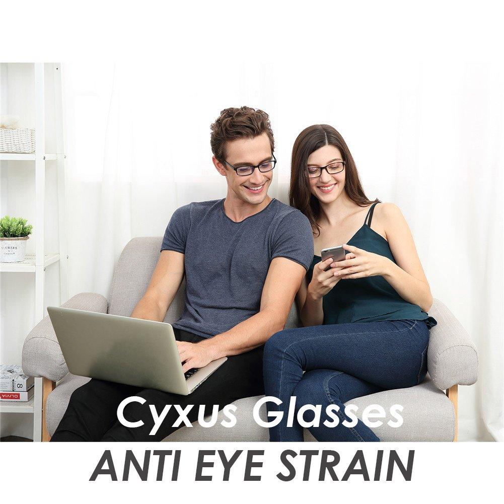 Cyxus Blue Light Blocking [Lightweight TR90] Glasses for Anti Eye Strain Headache Computer Use Eyewear, Men/Women (TR90 black) by Cyxus (Image #3)