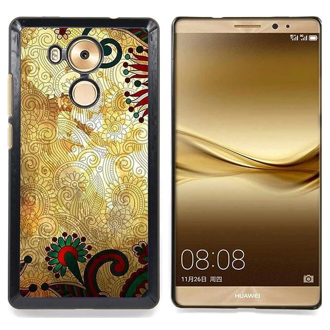 For Huawei Ascend Mate 8 Case Motivo Floreale Sfondo Oro Rustico