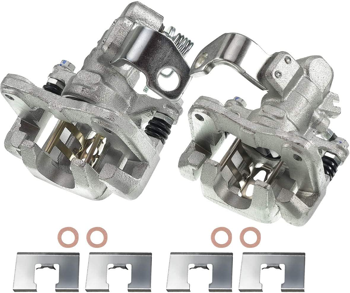 A-Premium Brake Caliper with Bracket Replacement for Acura EL RSX Honda Civic 2001-2006 Rear Driver Side