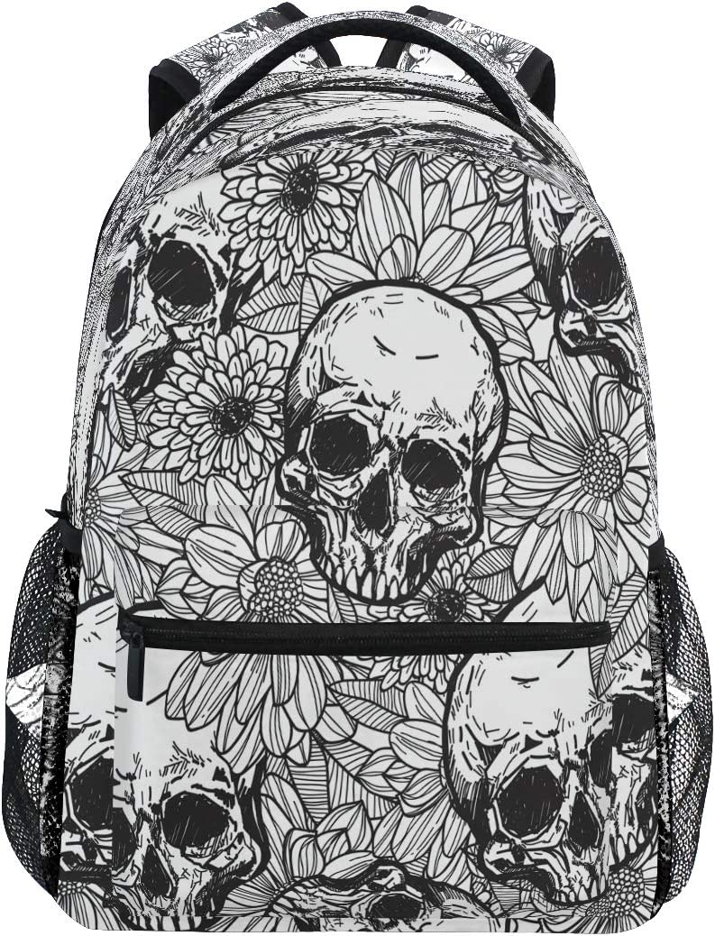 Laptop Backpack Boys Grils Skull Ghost Funny Halloween School Bookbags Computer Daypack for Travel Hiking Camping
