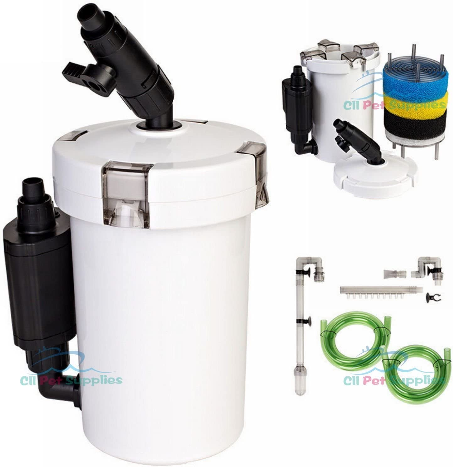 External Fish Tank Superior UV Sterilised Filtration Excelsior Aquarium Cannister Filters Packed Full Of Media For Parasite /& Algae Free Aquarium Water Excelsior 540