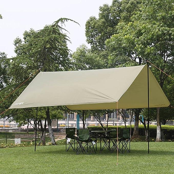 CLDBHBRK - Tienda de campaña Plegable, Grande, para Exteriores, toldo de Lona de Camping, Aislamiento Anti-UV, multijugador, pérgola de Arena, Playa, toldo portátil, Verde: Amazon.es: Hogar