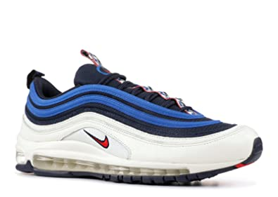 Nike Men's Air Max 97 SE Running Shoes Running Shoes ObsidianUniversity Red Sail Blue Nebula 7.5