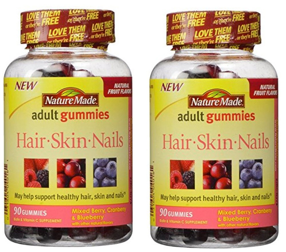 Amazon.com: Nature Made Hair Skin And Nails Gummies, Mixed Berry ...