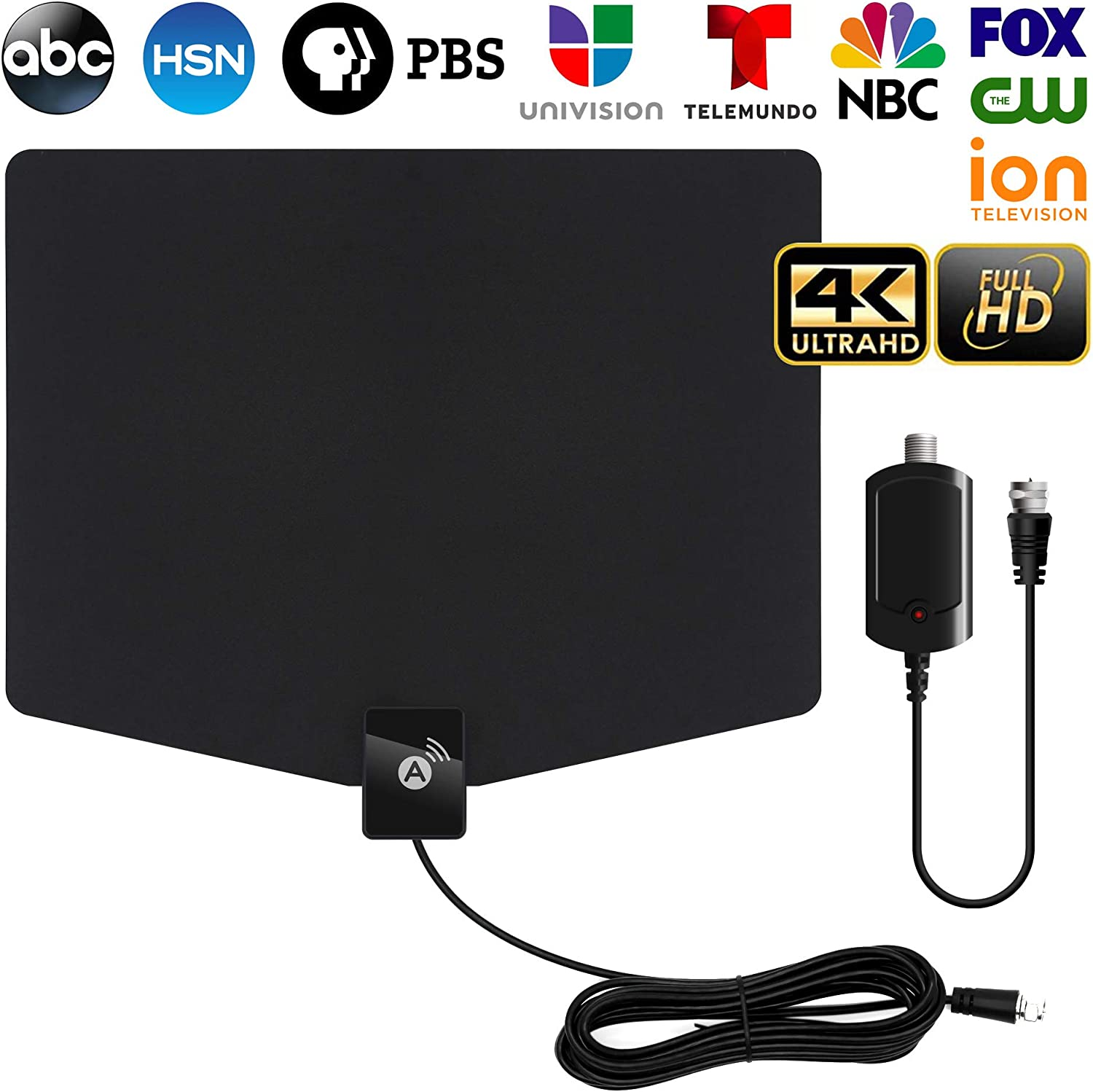 HDTV Antenna, Coax Cable Indoor Digital TV Antenna 120+ Miles Long Range with Support 4K 1080p /& All Older TVs Indoor Powerful HDTV Amplifier Signal Booster 2020 Latest