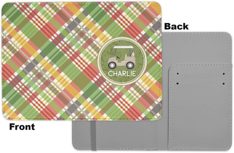 Golfers Plaid Passport Holder Personalized Fabric