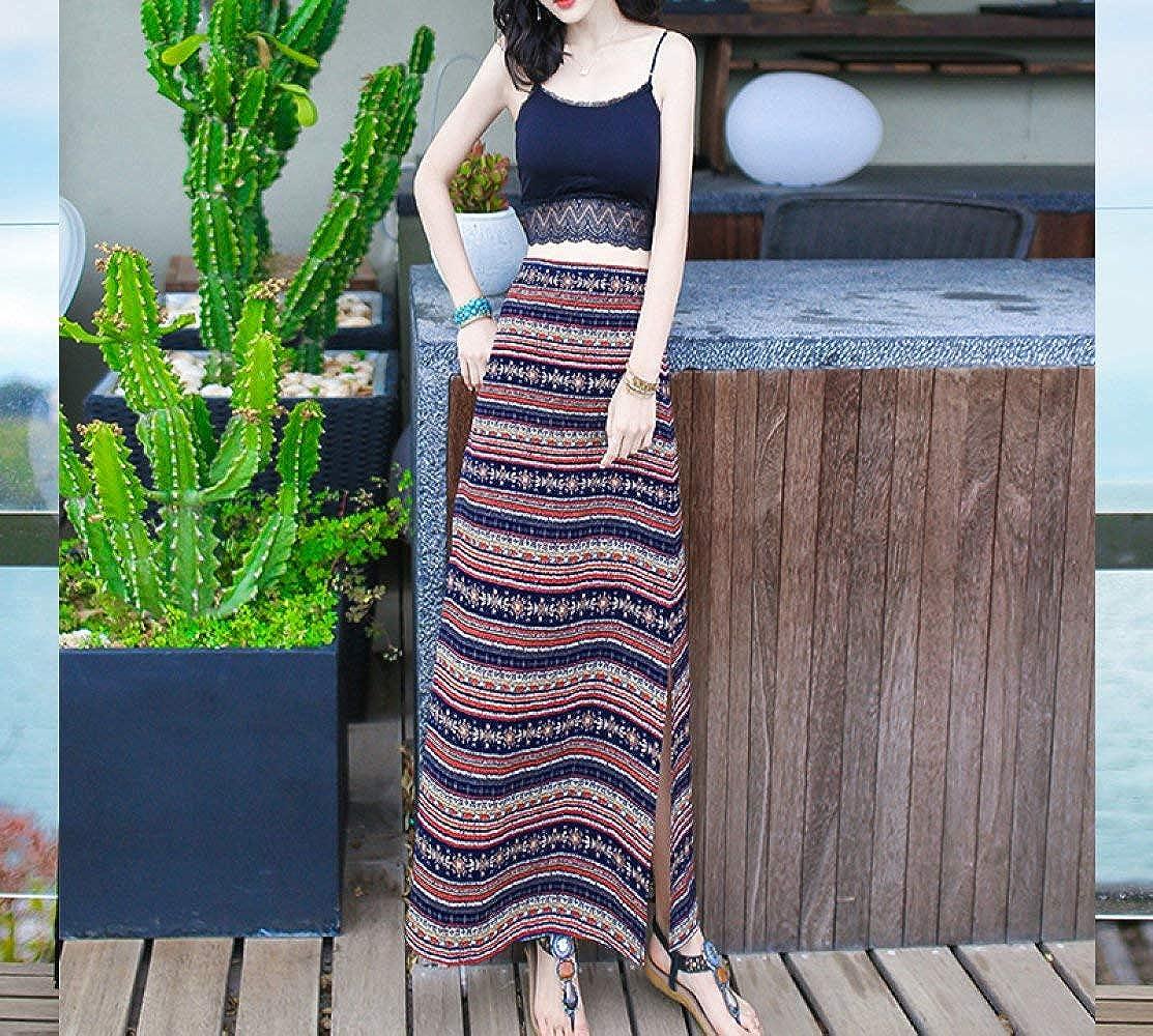 Section B Haiyugua Summer Women's TwoPiece Suit Skirt ShortSleeved Dress Long Skirt Seaside Vacation Beach Skirt