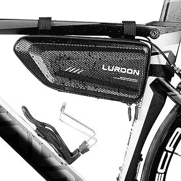 LUROON Bolsa de Bicicleta Impermeable, Bolsa Triangular para ...