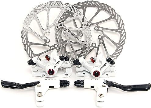 Yorbay Disco de Freno NV5 BD-09 160mm para Bicicleta Blanco con Kit de Tornillos (Blanco) reutilizable: Amazon.es: Deportes y aire libre