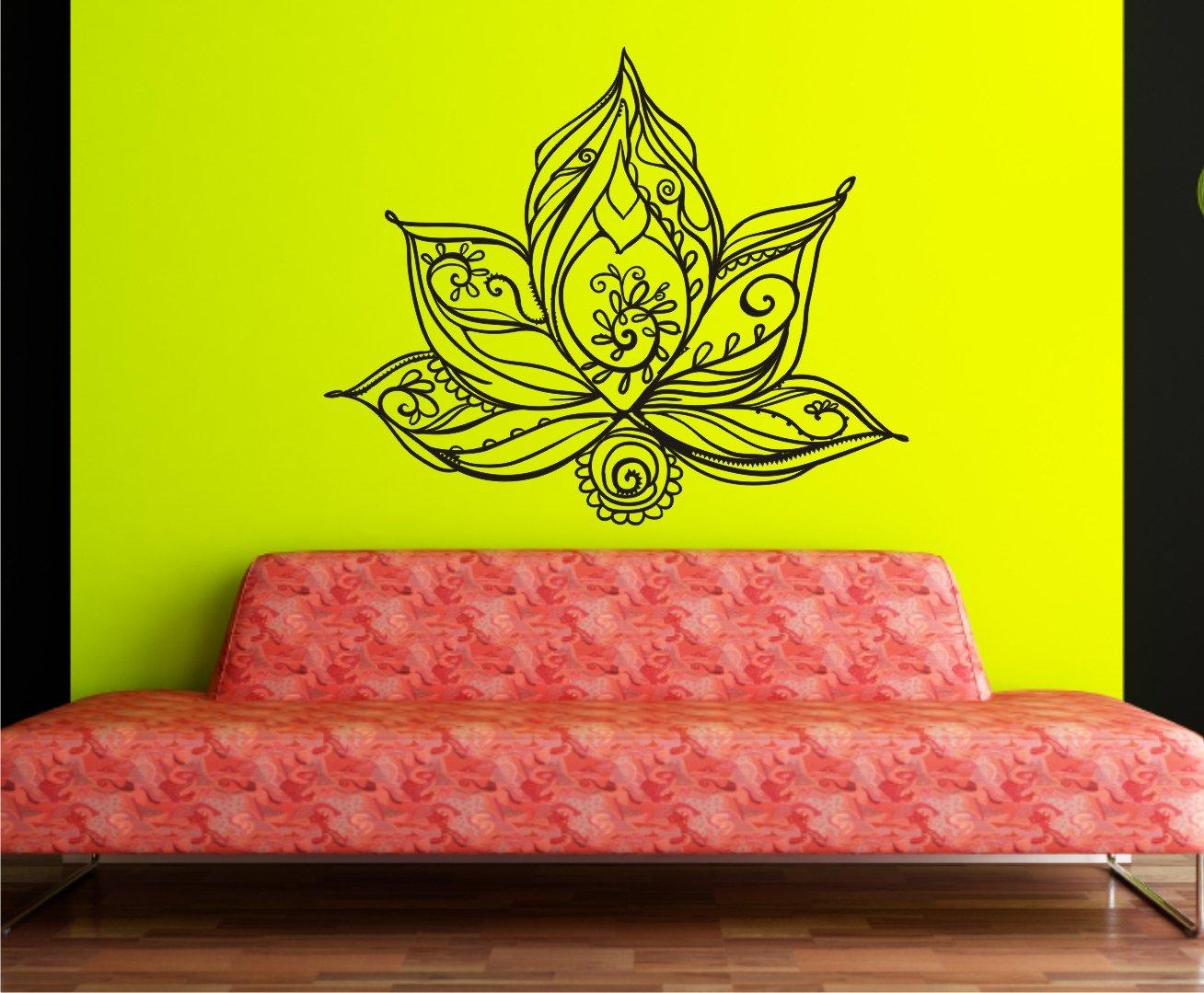 WERBUNGkreativ Wandtattoo Wandtattoo Wandtattoo LotusBlaume Lotus in 33 Farben matt oder glänzend Aufkleber Mandala Yoga OrnamentBlaume Wandaufkleber 60x70cm B01MSDKHPB Wandtattoos & Wandbilder f615a7