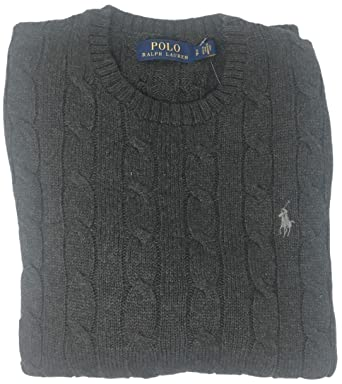 006b44c48ab Polo Ralph Lauren Men s Pony Cable Knit Crewneck Sweaters at Amazon ...