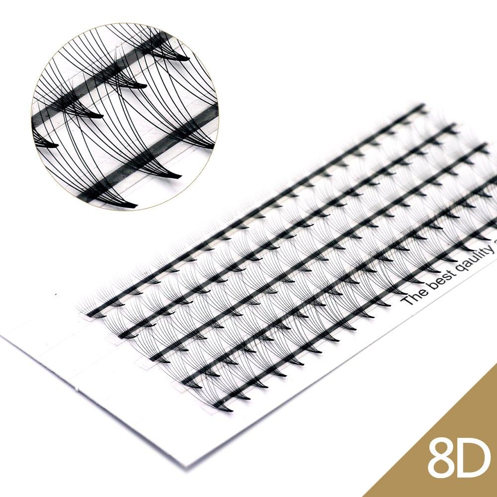 EMEDA Volume 3D Estensioni ciglia Russo Cluster Ciglia individuali Volume professionale C Curl Ciglia Estensioni per la bellezza (VLash-0006)