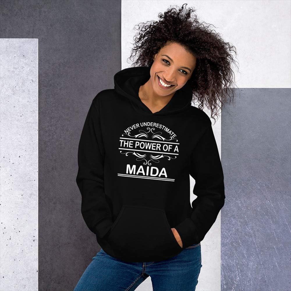 Never Underestimate The Power of Maida Hoodie Black