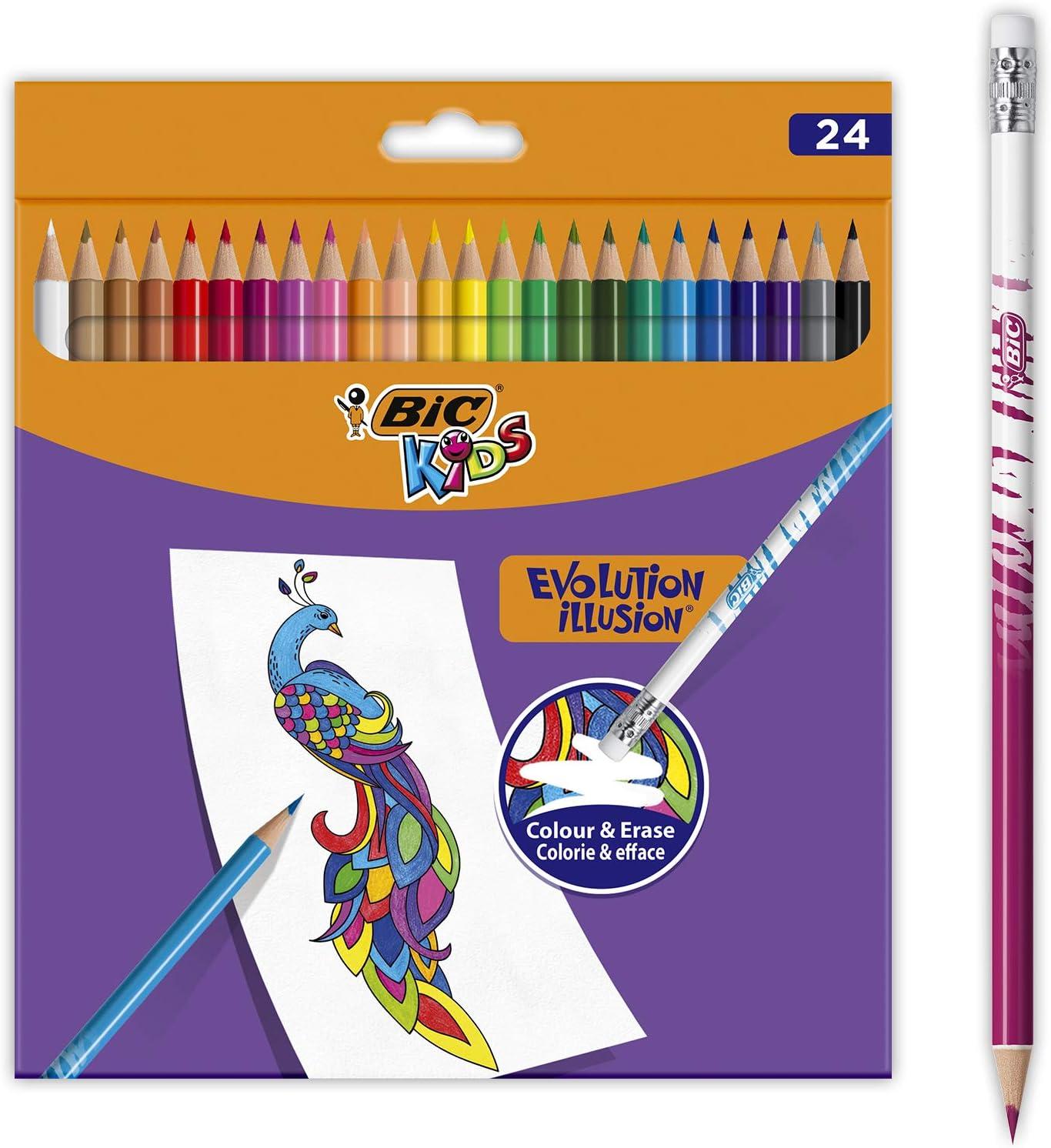 BIC Kids Evolution Illusion Lápices de Colores Borrables - Varios ...